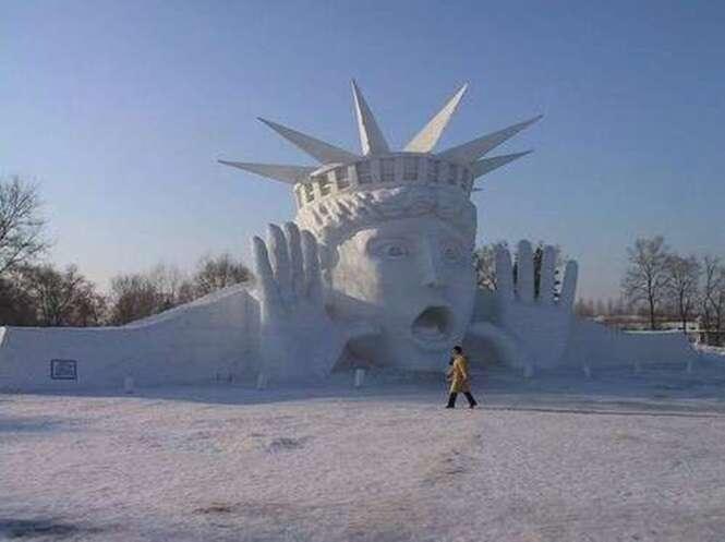 Esculturas de neve impressionantes