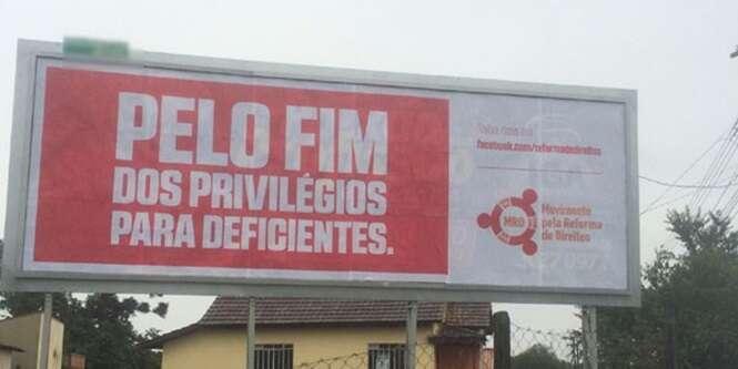 Outdoor causa polêmica no Paraná