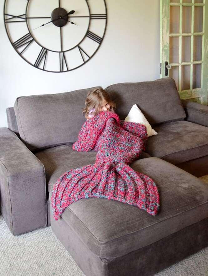Empresa vende cobertores para quem quer se tornar uma sereia
