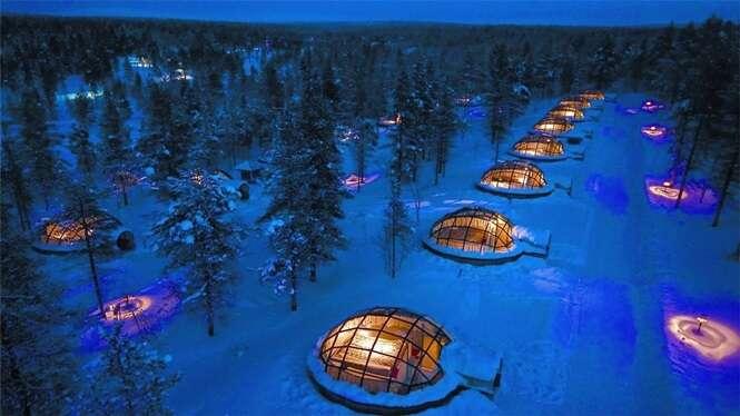 Quartos de hotel que permitem dormir sob as estrelas