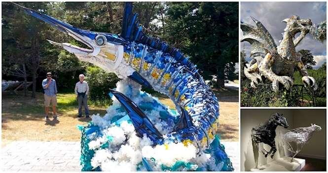 Obras de arte fantásticas feitas com lixo