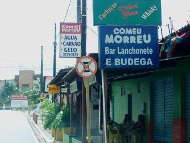 Bares brasileiros com nomes bizarros e divertidos