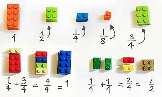 Professora usa blocos de Lego para ensinar matemática