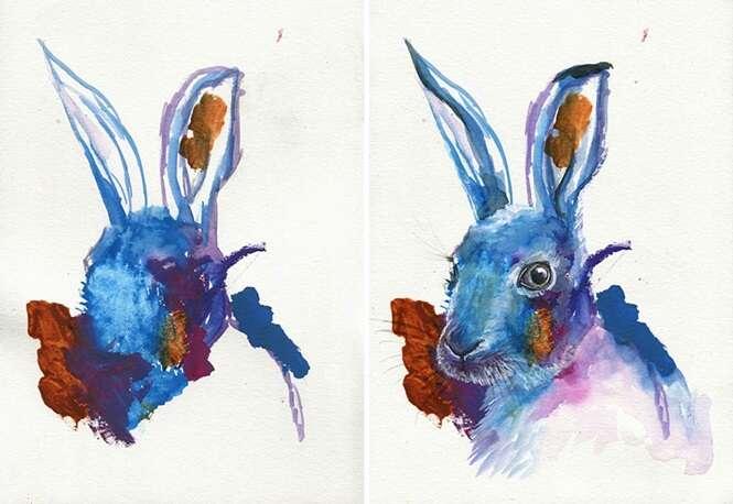 Mãe cria arte com pinturas feitas por filha de 3 anos