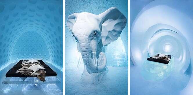 Fotos fantásticas do hotel de gelo da Suécia