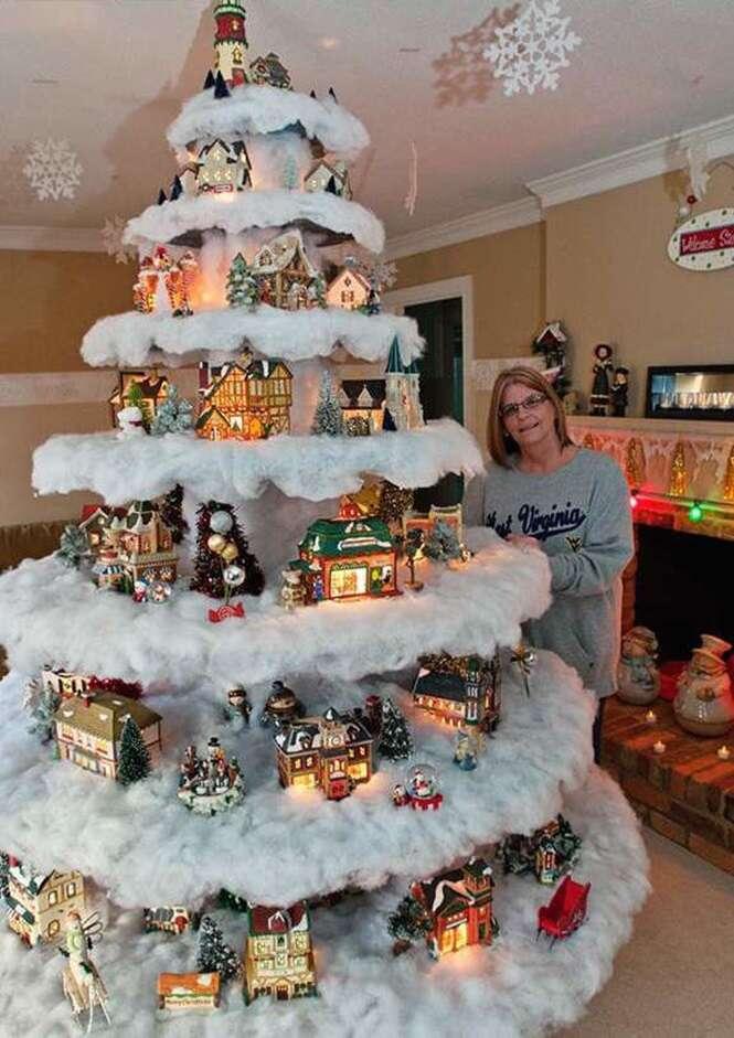Ideias diferentes para decorar sua árvore de Natal