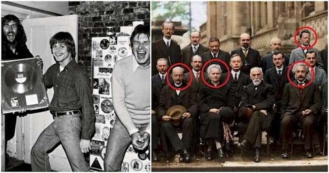 Fotos históricas envolvendo pessoas famosas