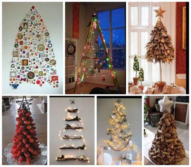 Ideias criativas e incomuns de árvores de Natal