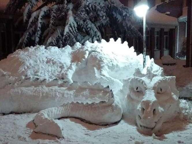 Esculturas de neve incríveis