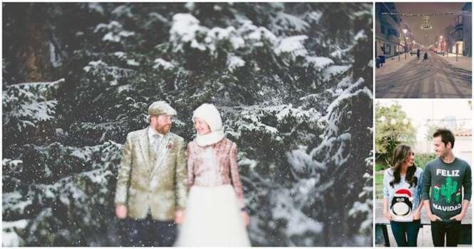 Lindas fotos provando que o inverno pode ser bastante romântico
