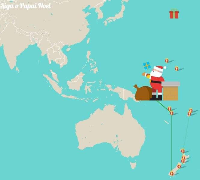 Acompanhe ao vivo onde Papai Noel está entregando os presentes de Natal