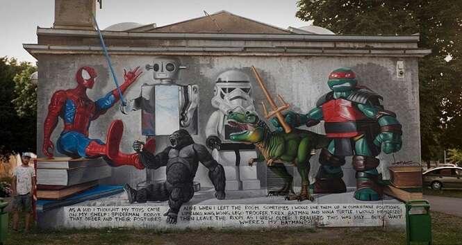 Artes de rua impressionantes