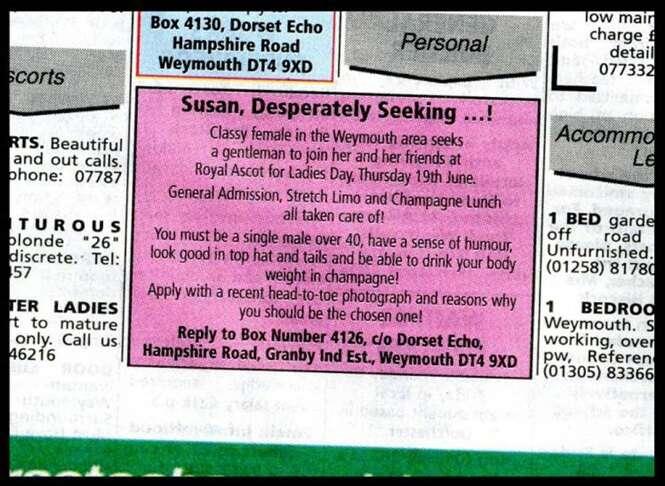 Mulher se casa após encontrar homem dos sonhos ao solicitar companhia em anúncio de jornal