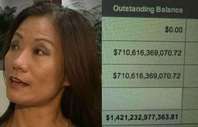 Mulher checa saldo de conta bancária pela internet e descobre que tinha dívida de 5,4 trilhões de reais