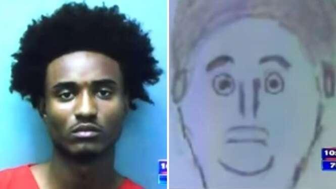 Testemunha faz esboço de retrato falado de criminoso e desenho se torna viral na web