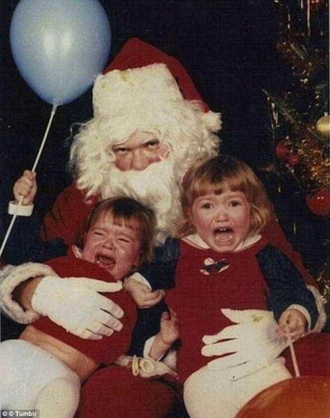 Fotos que comprovam que o Papai Noel pode ser assustador