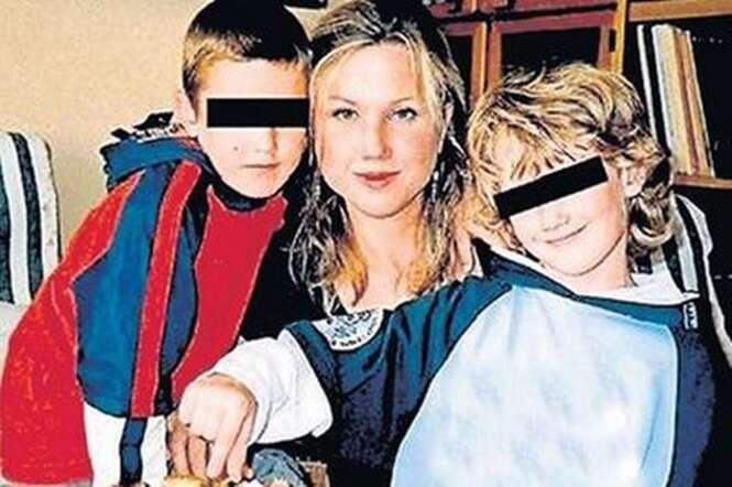 Klara e os filhos Ondrej e Jakub