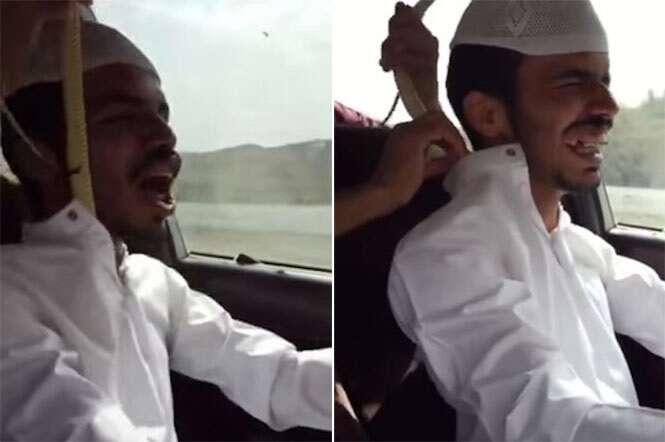 Vídeo flagra momento em que motorista tem enorme cobra venenosa retirada de dentro de sua camisa