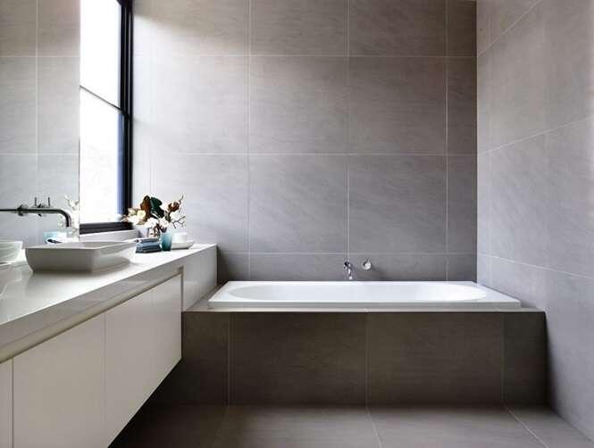 10 Exemplos De Banheiros Com Tons Cinza E Branco