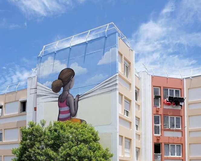 Artista francês transforma prédios em obras de arte