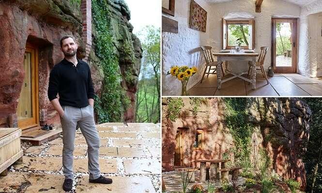 Homem gasta 1000 horas de trabalho para transformar caverna em casa dos sonhos