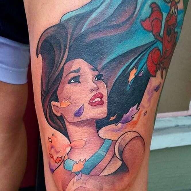 Tatuagens inspiradas em Pocahontas