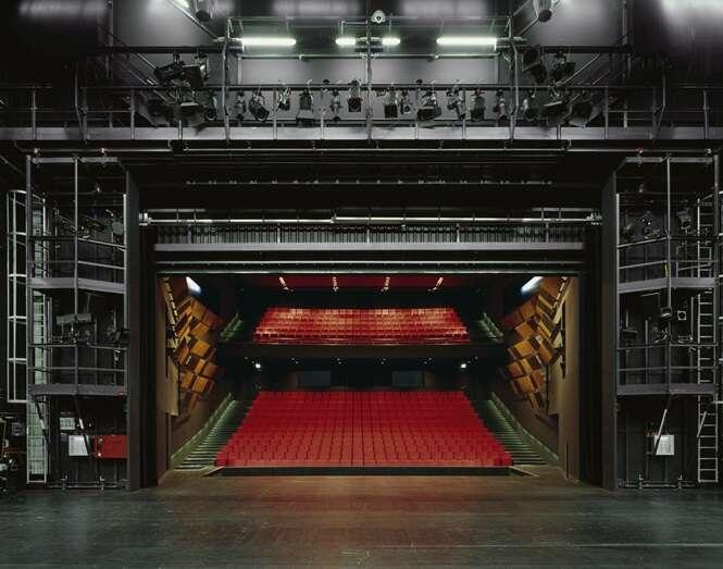 Ftos demonstrando a visão dos atores quando estão no palco