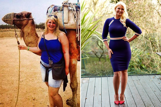 Enfermeira obesa que pesava cerca de 100 quilos muda forma física