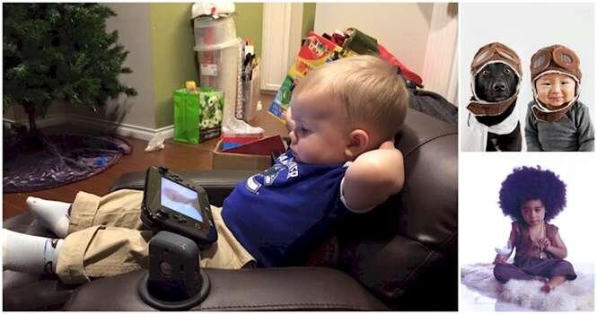 Imagens curiosas envolvendo bebês