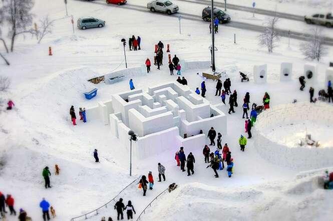 Maneiras divertidas de brincar com a neve