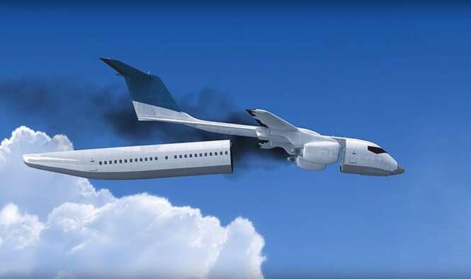 Engenheiro cria cabine destacável de aeronave