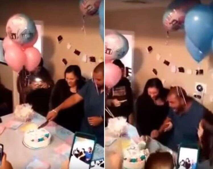 Pai de quatro meninas desmaia ao descobrir que sua esposa está esperando um menino