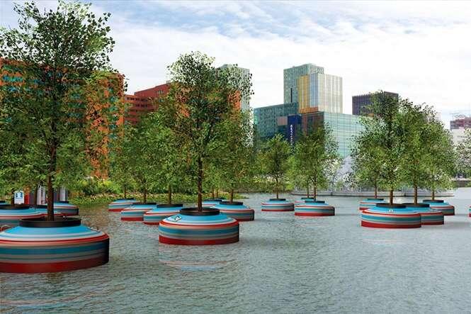 Floresta flutuante será instalada na Holanda