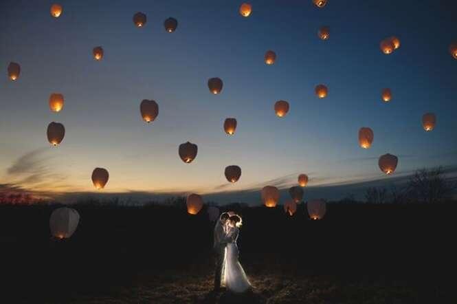 Série de imagens mostra as mais mágicas fotos de casamento