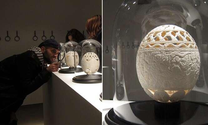 Artista relembra momentos da prisão criando lindas obras de arte em ovos