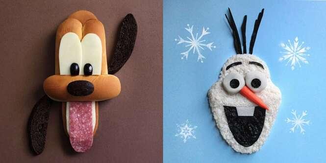Artista cria divertidos e comestíveis personagens da Disney