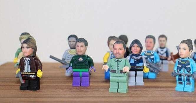 Empresa personaliza o seu rosto para ser usado em bonecos de Lego