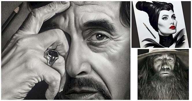 Desenhos extremamente realistas dos famosos
