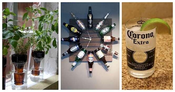 Ideias criativas para reaproveitar garrafas de cerveja
