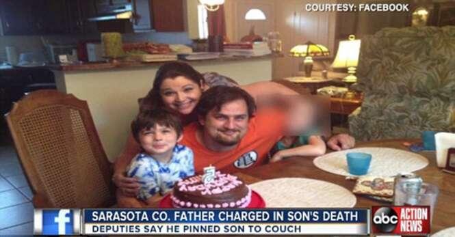 Pai de 120 quilos esmaga filho de 6 anos até a morte ao se sentar sobre ele