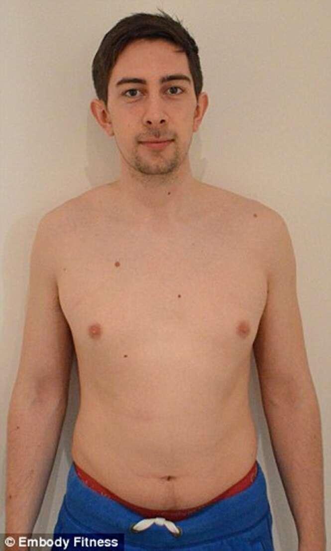 Homem perde 75% de sua gordura corporal em apenas três meses