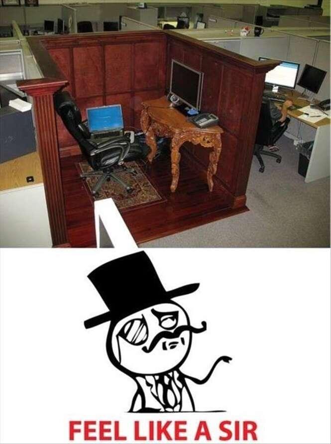 Mesas de trabalho com um visual nada comum