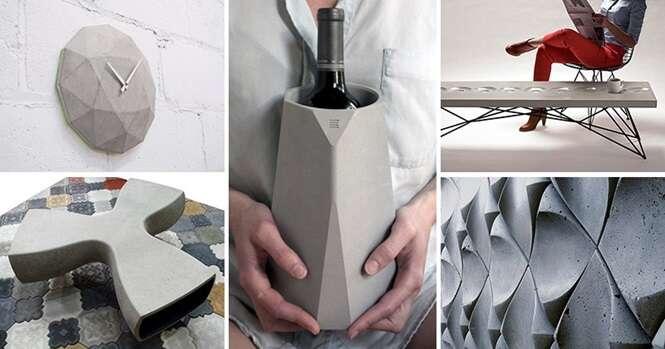 Coisas feitas de cimento que podem trazer mais estilo ao seu dia a dia