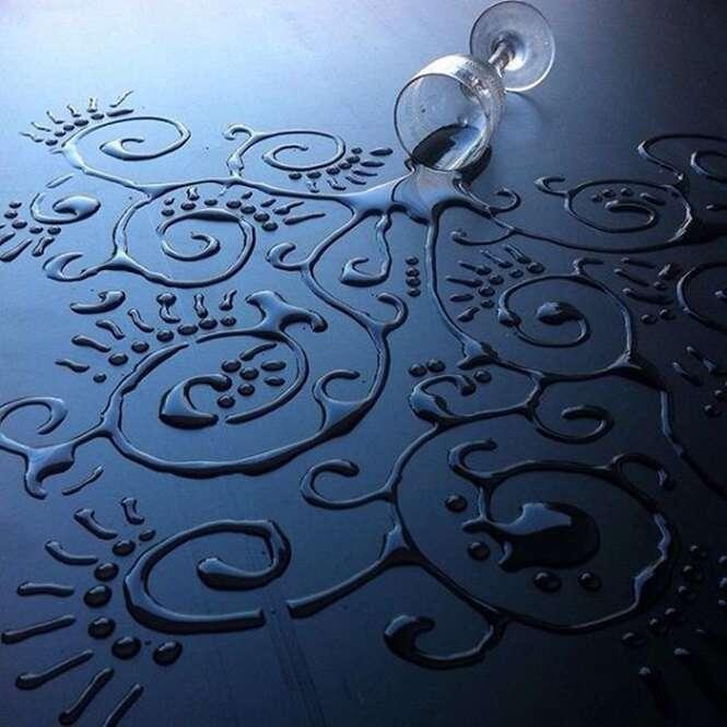 Artista transforma água em arte