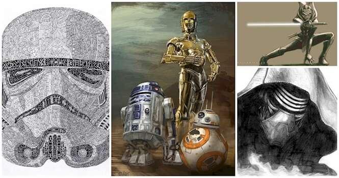 Desenhos incríveis criados por fãs de Star Wars