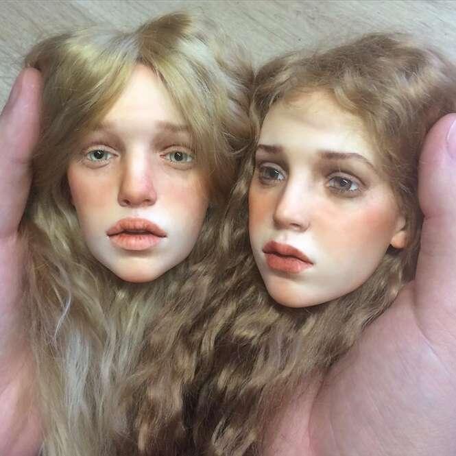 Artista russo cria rostos de bonecos extremamente realistas