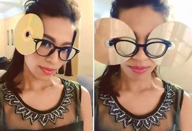 Internautas lançam desafio de CDs nos óculos e promovem primeira modinha de 2016