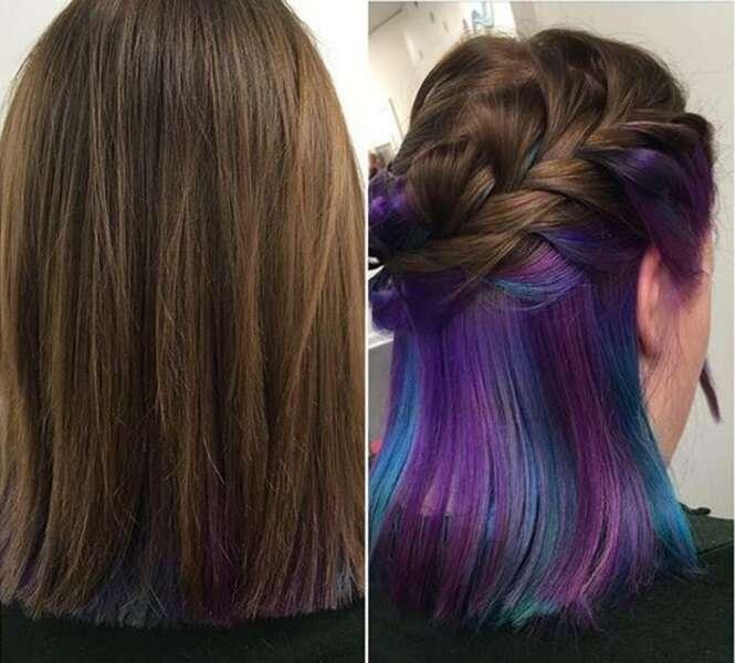 Nova tendência entre as mulheres permite que escolham ficar com cabelos normais ou coloridos