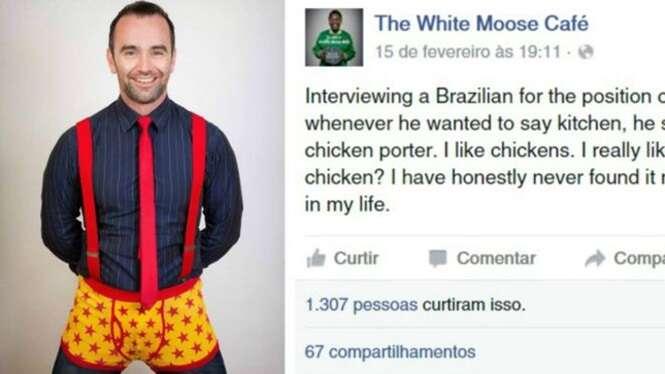 Brasileiro se torna alvo de gozações após erro de inglês