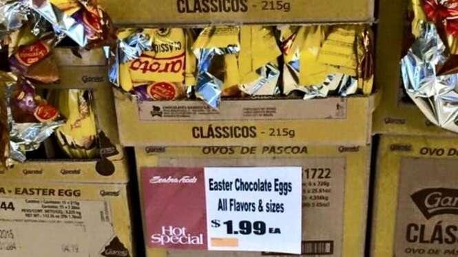 Brasileiro publica imagem de ovo de Páscoa vendido por 1,99 dólares nos EUA